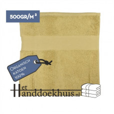 Handdoek Organisch 50 x 100cm (500 gr/m2) incl. borduring