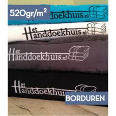 Handdoek 50 x 100cm (520 gr/m2) incl. borduren logo