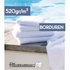 Strandlaken (520 gr/m2) 180 x 100cm met logo borduren